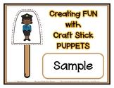 Popsicle Craft Stick Puppets FREEBIE Sampler - Daycare Pre