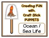 Popsicle / Craft Stick Puppets Ocean Sea Life - Preschool