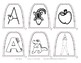 Popsicle / Craft Stick Puppets for the Letter A - Preschool Daycare Curriculum