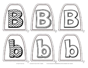 Popsicle / Craft Stick Puppets for the Letter B - Preschool Daycare Curriculum