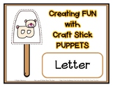 Popsicle / Craft Stick Puppets for the Letter B - Preschoo
