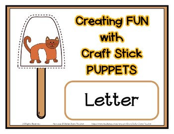 Popsicle / Craft Stick Puppets for the Letter C - Preschool Daycare Curriculum
