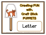 Popsicle / Craft Stick Puppets for the Letter C - Preschoo