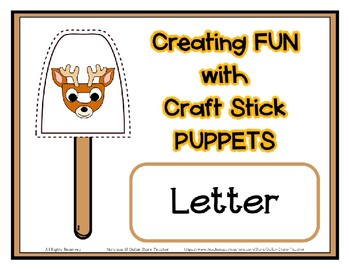 Popsicle / Craft Stick Puppets for the Letter D - Preschool Daycare Curriculum