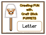 Popsicle / Craft Stick Puppets for the Letter D - Preschoo