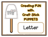 Popsicle / Craft Stick Puppets for the Letter E - Preschoo