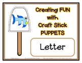 Popsicle / Craft Stick Puppets for the Letter F - Preschool Daycare Curriculum
