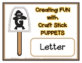 Popsicle / Craft Stick Puppets for the Letter G - Preschool Daycare Curriculum