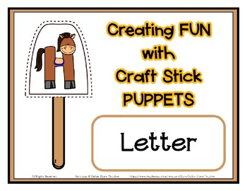 Popsicle / Craft Stick Puppets for the Letter H - Preschool Daycare Curriculum