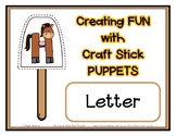 Popsicle / Craft Stick Puppets for the Letter H - Preschoo