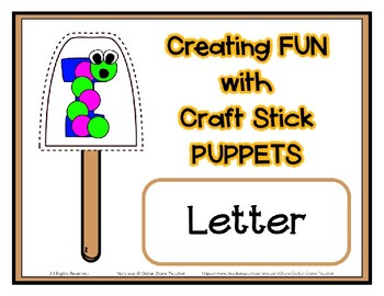Popsicle / Craft Stick Puppets for the Letter I - Preschool Daycare Curriculum