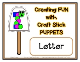 Popsicle / Craft Stick Puppets for the Letter I - Preschoo