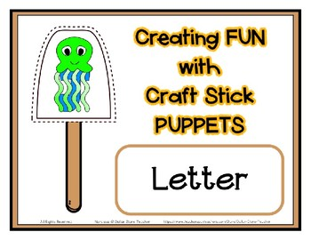 Popsicle / Craft Stick Puppets for the Letter J - Preschool Daycare Curriculum