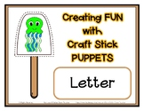 Popsicle / Craft Stick Puppets for the Letter J - Preschoo