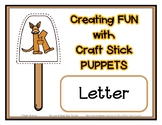 Popsicle / Craft Stick Puppets for the Letter K - Preschoo
