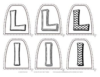 Popsicle / Craft Stick Puppets for the Letter L - Preschool Daycare Curriculum