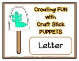 Popsicle / Craft Stick Puppets for the Letter L - Preschoo