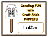 Popsicle / Craft Stick Puppets for the Letter M - Preschoo