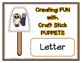 Popsicle / Craft Stick Puppets for the Letter N - Preschool Daycare Curriculum