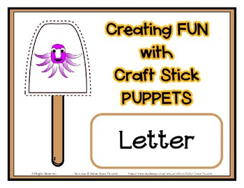 Popsicle / Craft Stick Puppets for the Letter O - Preschool Daycare Curriculum