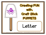 Popsicle / Craft Stick Puppets for the Letter O - Preschoo