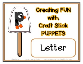 Popsicle / Craft Stick Puppets for the Letter P - Preschool Daycare Curriculum