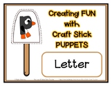 Popsicle / Craft Stick Puppets for the Letter P - Preschoo
