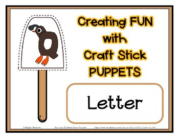 Popsicle / Craft Stick Puppets for the Letter Q - Preschool Daycare Curriculum