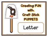 Popsicle / Craft Stick Puppets for the Letter Q - Preschoo