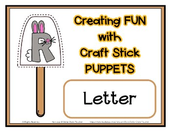 Popsicle / Craft Stick Puppets for the Letter R - Preschool Daycare Curriculum