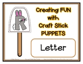Popsicle / Craft Stick Puppets for the Letter R - Preschoo