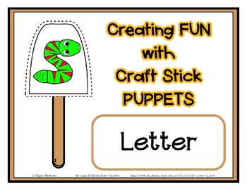 Popsicle / Craft Stick Puppets for the Letter S - Preschool Daycare Curriculum