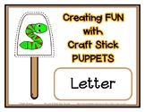 Popsicle / Craft Stick Puppets for the Letter S - Preschoo