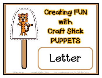Popsicle / Craft Stick Puppets for the Letter T - Preschool Daycare Curriculum