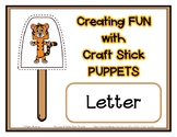 Popsicle / Craft Stick Puppets for the Letter T - Preschoo