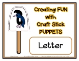 Popsicle / Craft Stick Puppets for the Letter U - Preschoo