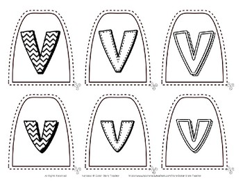 Popsicle / Craft Stick Puppets for the Letter V - Preschool Daycare Curriculum