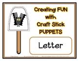 Popsicle / Craft Stick Puppets for the Letter V - Preschoo