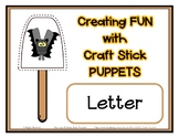 Popsicle / Craft Stick Puppets for the Letter V - Preschoo