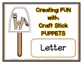 Popsicle / Craft Stick Puppets for the Letter W - Preschool Daycare Curriculum