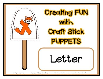 Popsicle / Craft Stick Puppets for the Letter X - Preschool Daycare Curriculum