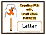 Popsicle / Craft Stick Puppets for the Letter X - Preschoo