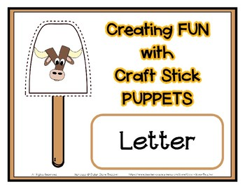 Popsicle / Craft Stick Puppets for the Letter Y - Preschool Daycare Curriculum