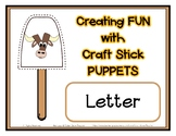 Popsicle / Craft Stick Puppets for the Letter Y - Preschoo