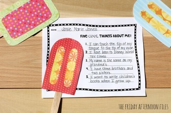 Popsicle Bulletin Board: Back to School Activity