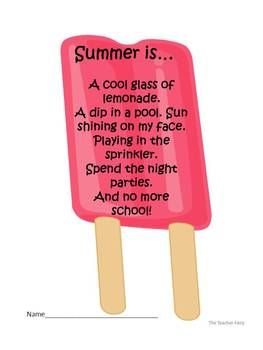 Popsicle Creative Writing