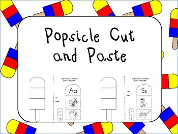 Popsicle Cut and Paste Aa Thru Zz