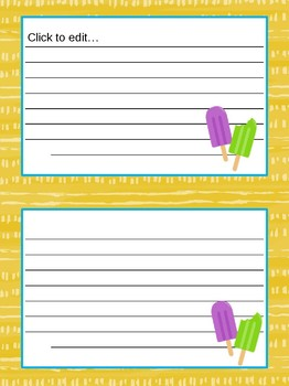Popsicle Decor Pack Editable Files