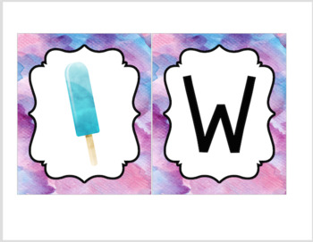 Popsicle Decor Theme - WELCOME banner