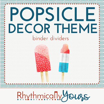 Popsicle Decor Theme - binder dividers
